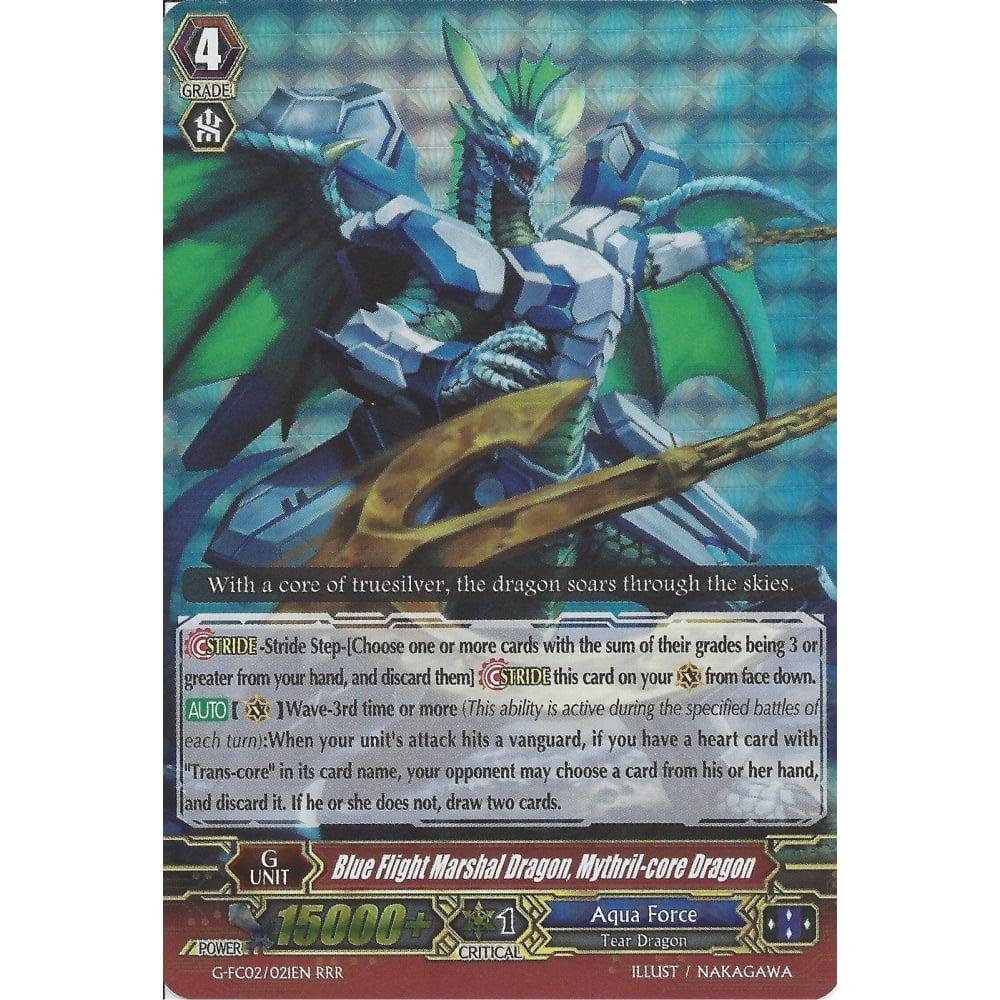 Cardfight 1x G-FC02//021EN Blue Flight Marshal Dragon Mythril-core Dragon RRR