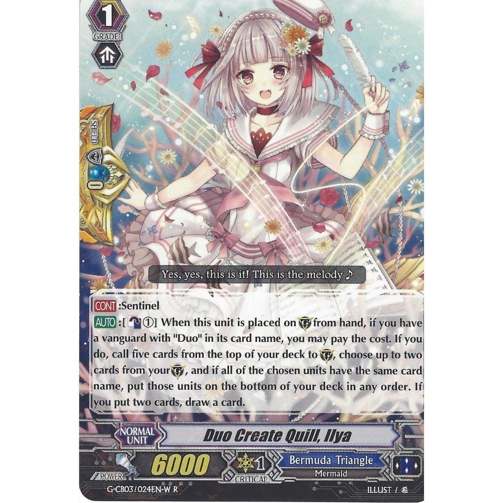 - G-CB03//024EN-W R CARDFIGHT VANGUARD CARD: DUO CREATE QUILL IIYA WHITE