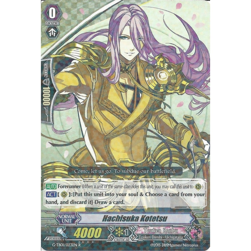 HACHISUKA KOTETSU G-TB01//023EN R RARE CARDFIGHT VANGUARD CARD