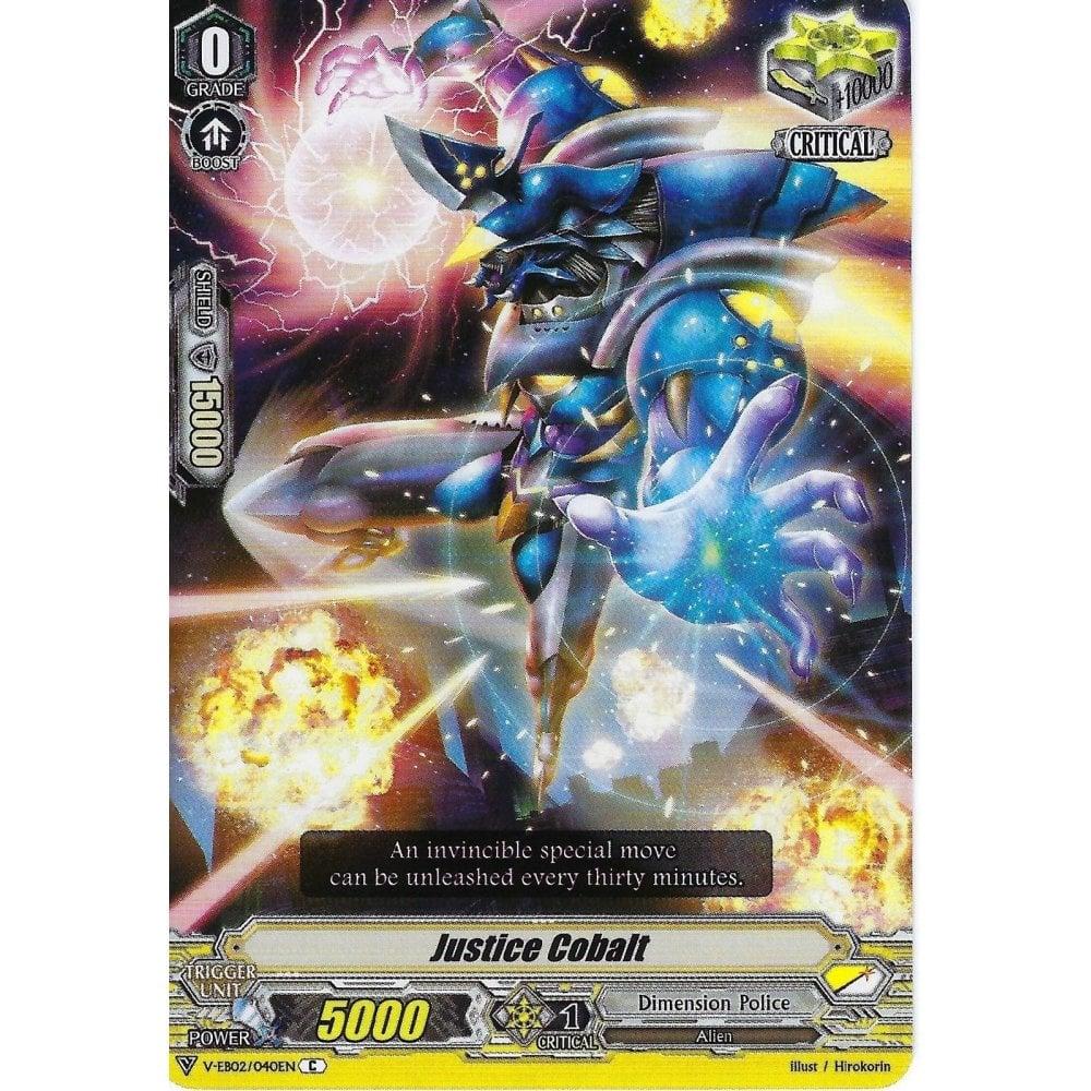 Justice Cobalt Cardfight Vanguard V-EB02//040EN C Common Card