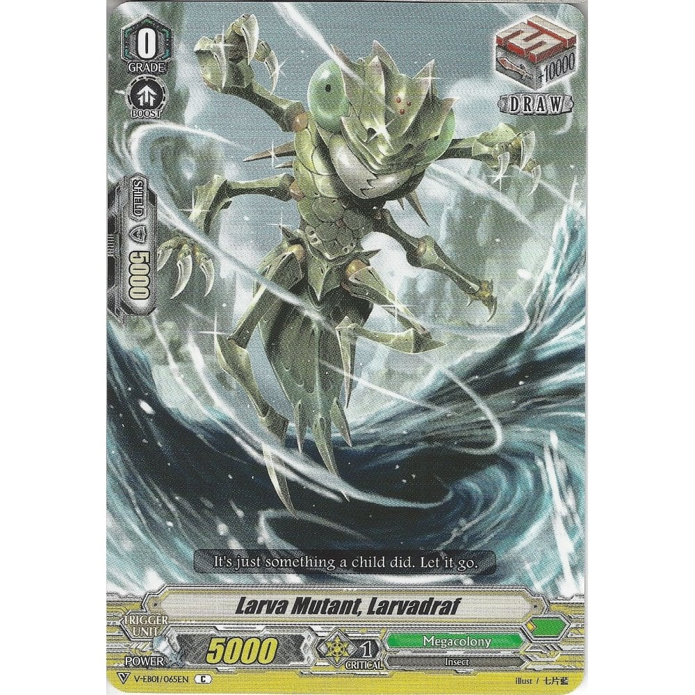 Common Card V-EB01//065EN C Cardfight Vanguard: Larva Mutant Larvadraf