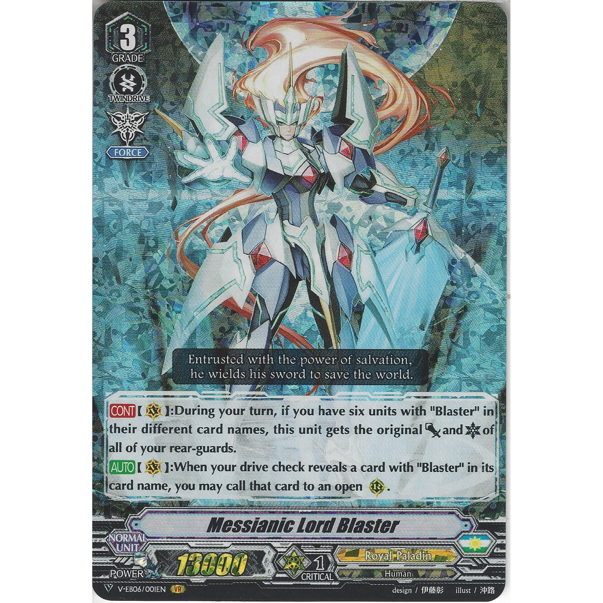 Cardfight! Vanguard Messianic Lord Blaster V-EB06//001EN VR  Royal Paladin