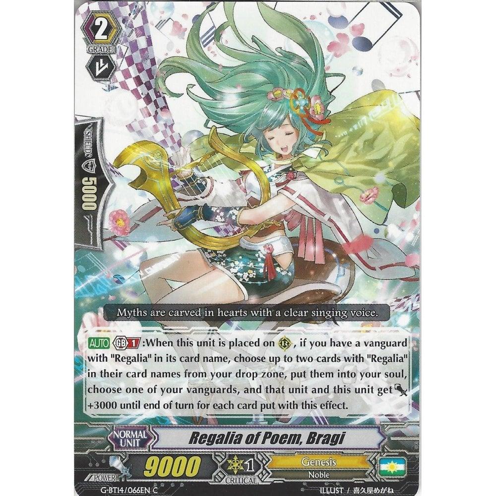 Bragi Cardfight Vanguard: Regalia Of Poem G-BT14//066EN C Common Card