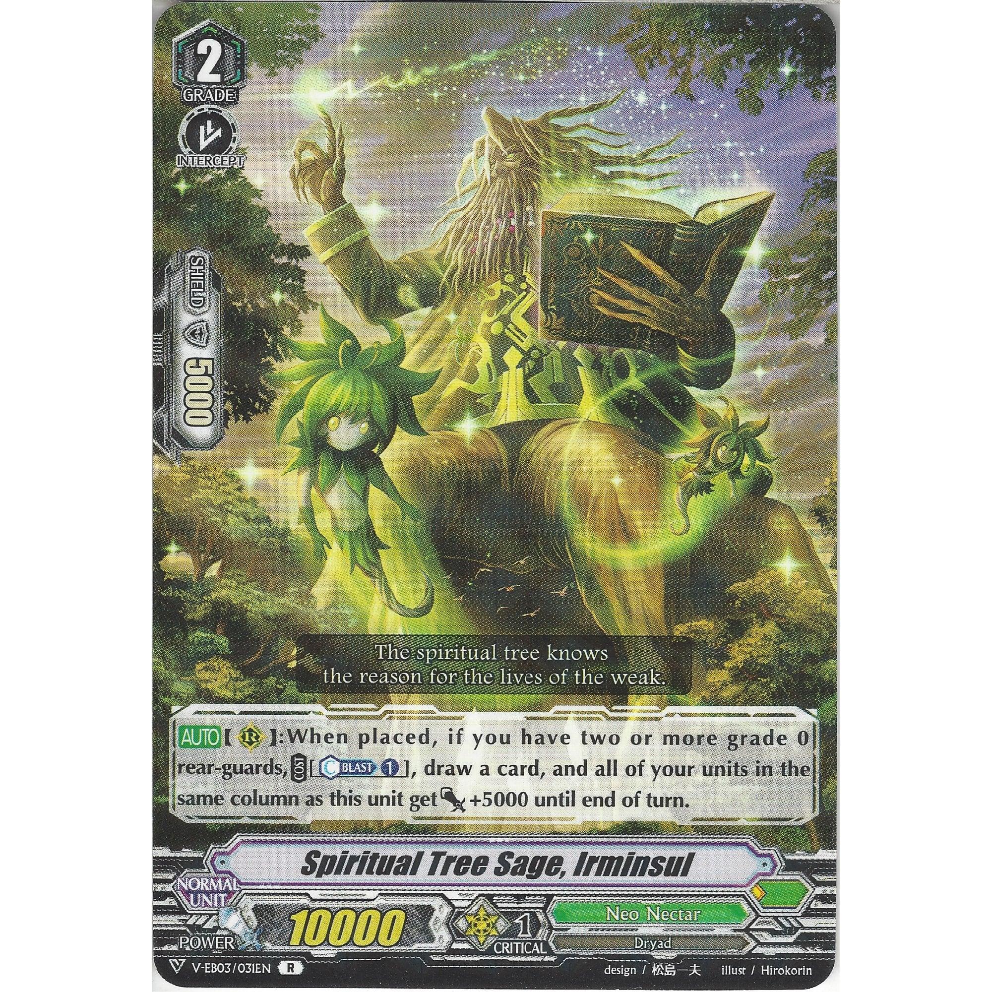 V-EB03//031EN R Rare Card Irminsul Spiritual Tree Sage Cardfight Vanguard TCG