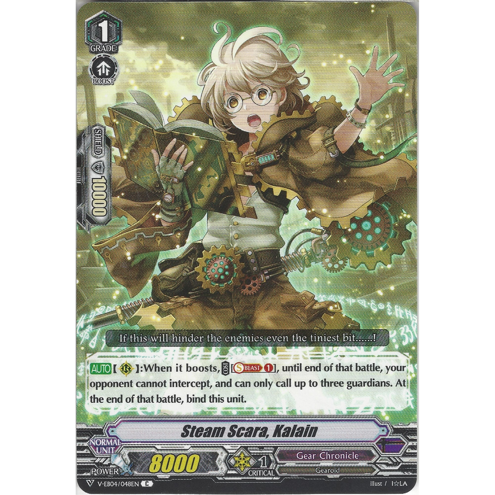 Cardfight Vanguard TCG: Steam Hunter Lippitt Common Card V-EB04//044EN C