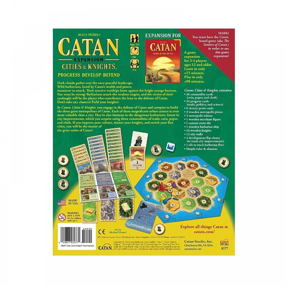 Cities And Knights Expansion For The Catan Board Game 2015 Refresh Settlers Of Catan
