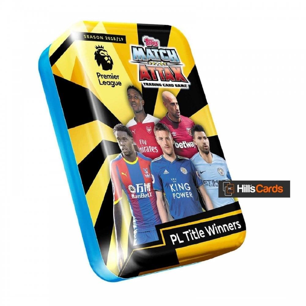 EPL 2018/19 TCG - Collectors Mega Tin - Title Winners - Topps Premier  League Football Cards 2019