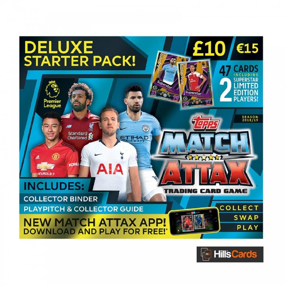 fc7460b67a2 Match Attax EPL 2018 19 TCG - Deluxe Starter Pack - Topps Premier League  Football Cards 2019