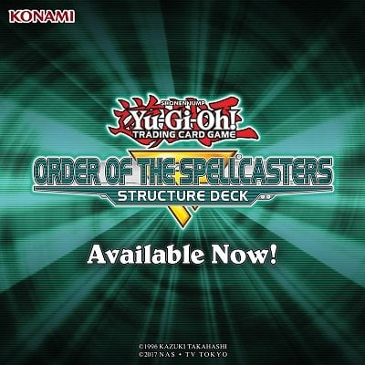 Yu-Gi-Oh! Trading Card Game Order Of The Spellcasters Structure Deck Available Now