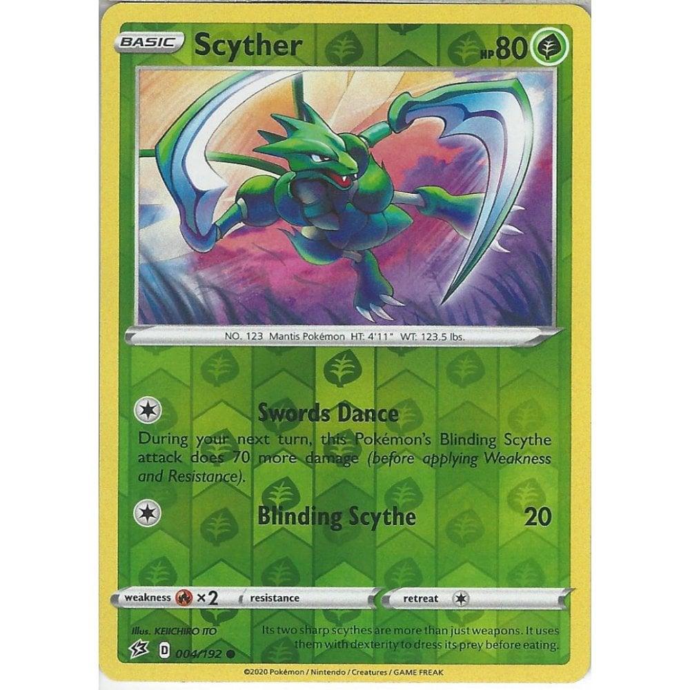 Scyther 004//192 Playset X4 Common Pokemon TCG S/&S Rebel Clash