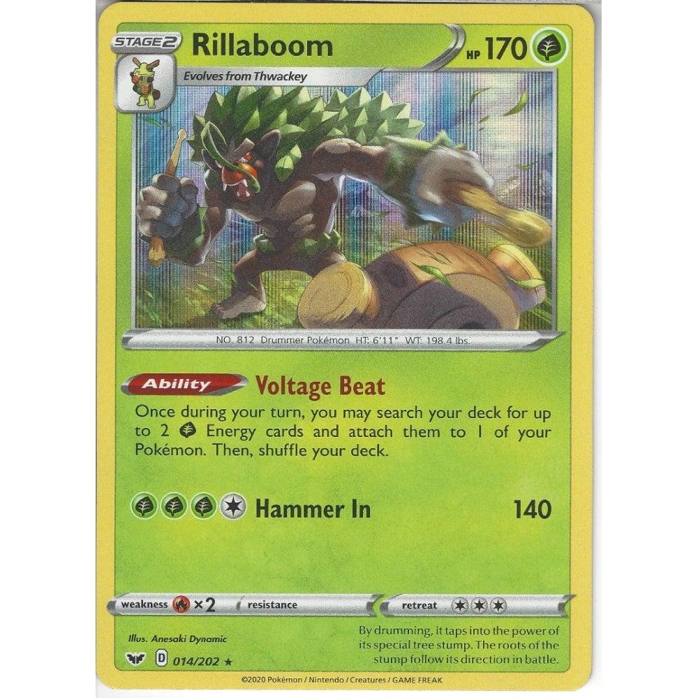 Pokemon RILLABOOM 014//202 Sword /& Shield RARE HOLO MINT