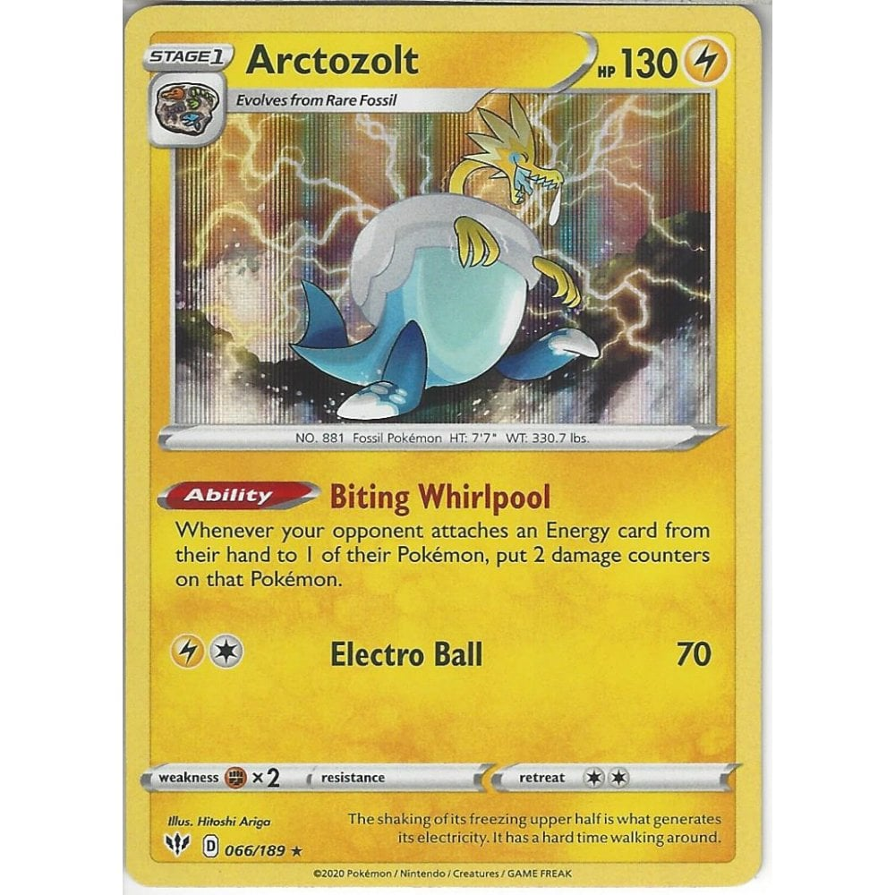 066//189 SWSH Darkness Ablaze Arctozolt HOLO Rare Pokemon Card