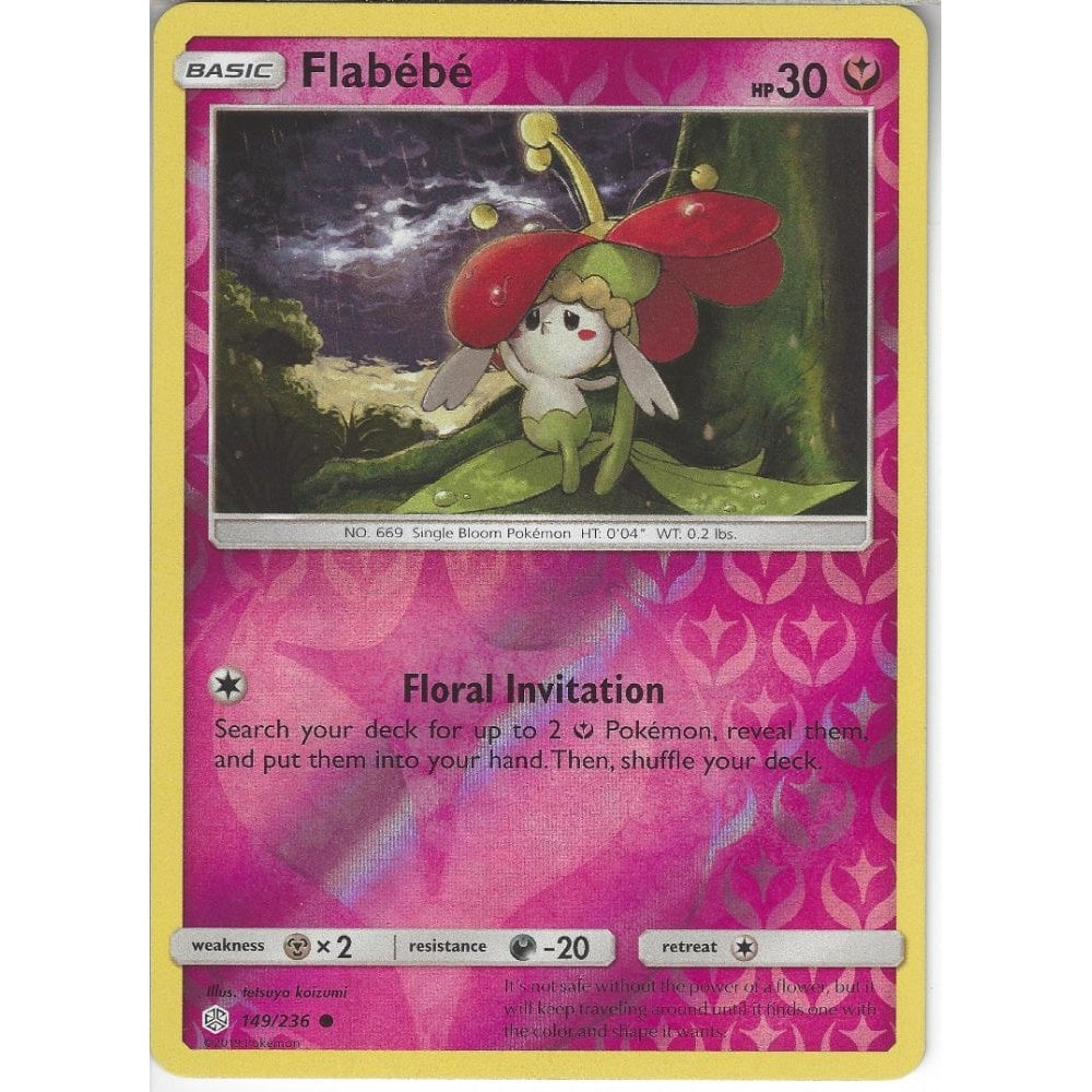 Pokemon Trading Card Game 149/236 Flabebe | Common Reverse ...