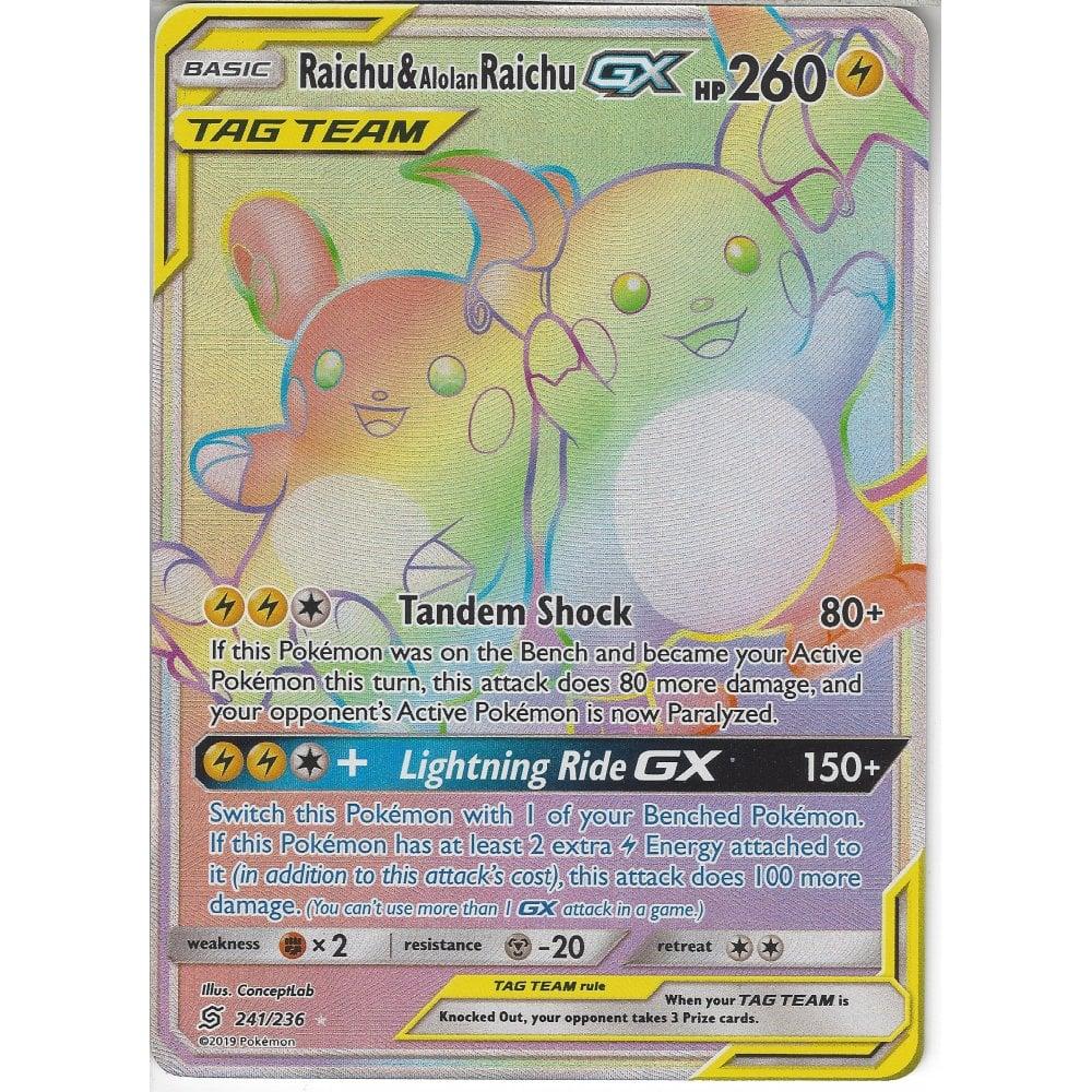 Pokemon Trading Card Game 241/236 Raichu & Alolan Raichu