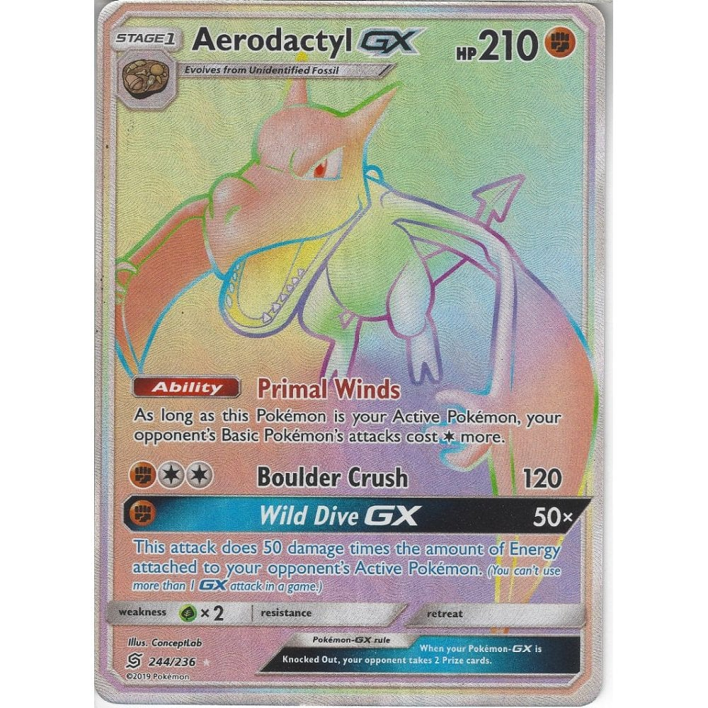 Pokemon Trading Card Game 244/236 Aerodactyl GX | Rare ...
