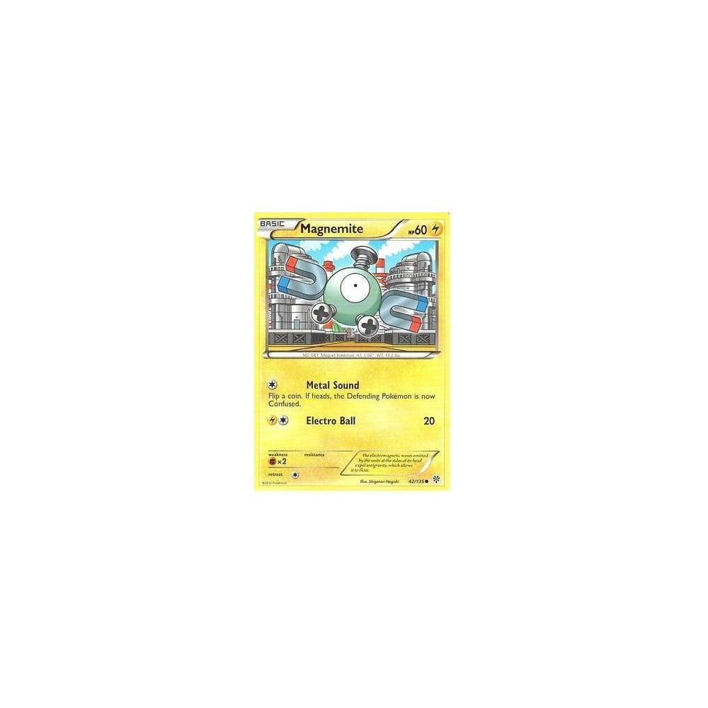 Pokémon POKEMON BLACK AND WHITE PLASMA STORM MAGNEMITE 42/135 Verzamelingen