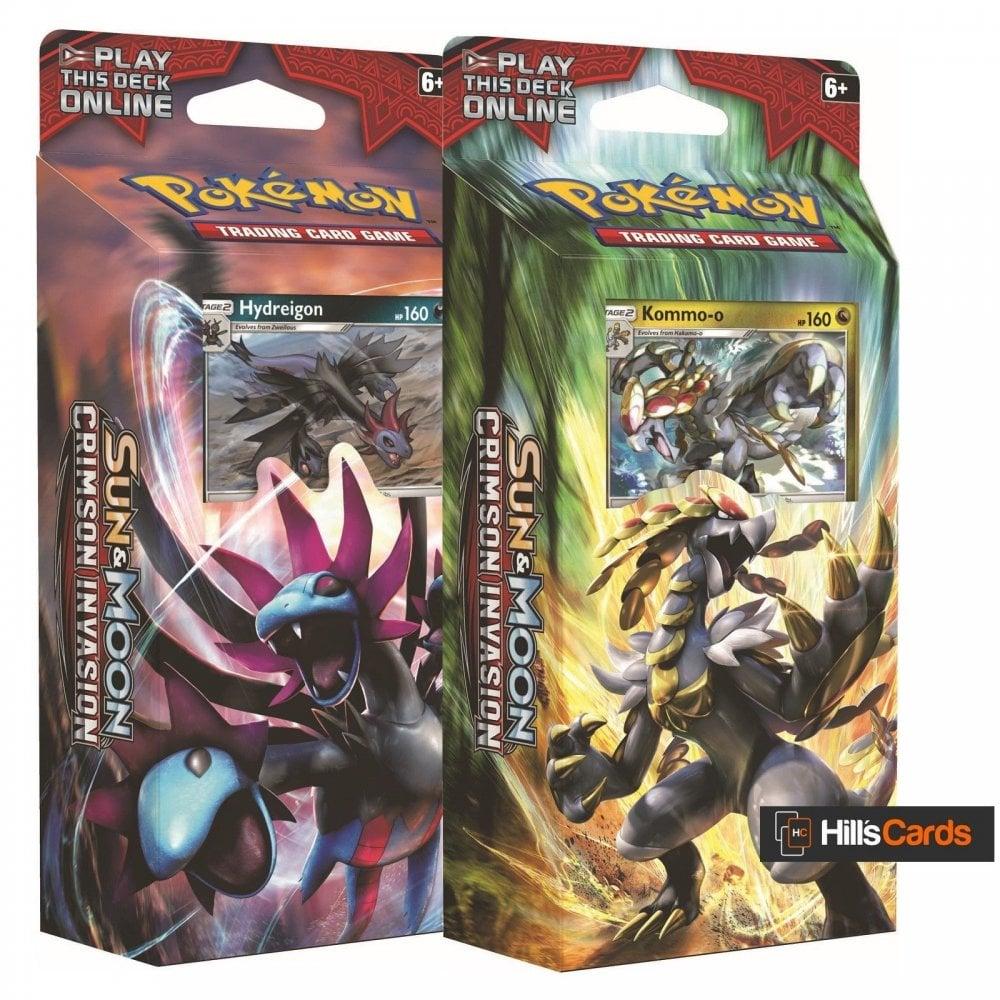 Pokemon Both Sun & Moon Crimson Invasion Theme Decks: Hydreigon, Kommo-o