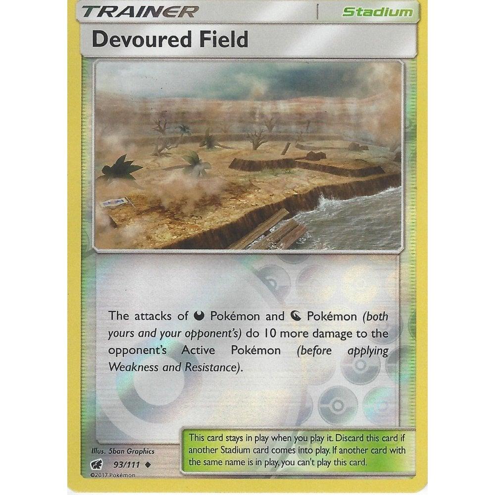 Crimson Invasion Devoured Field 93//111 Reverse Holo Mint Pokemon Card