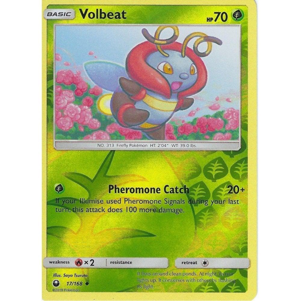 Pokemon SM Celestial Storm Card: Volbeat - 17/168 - Reverse Holo