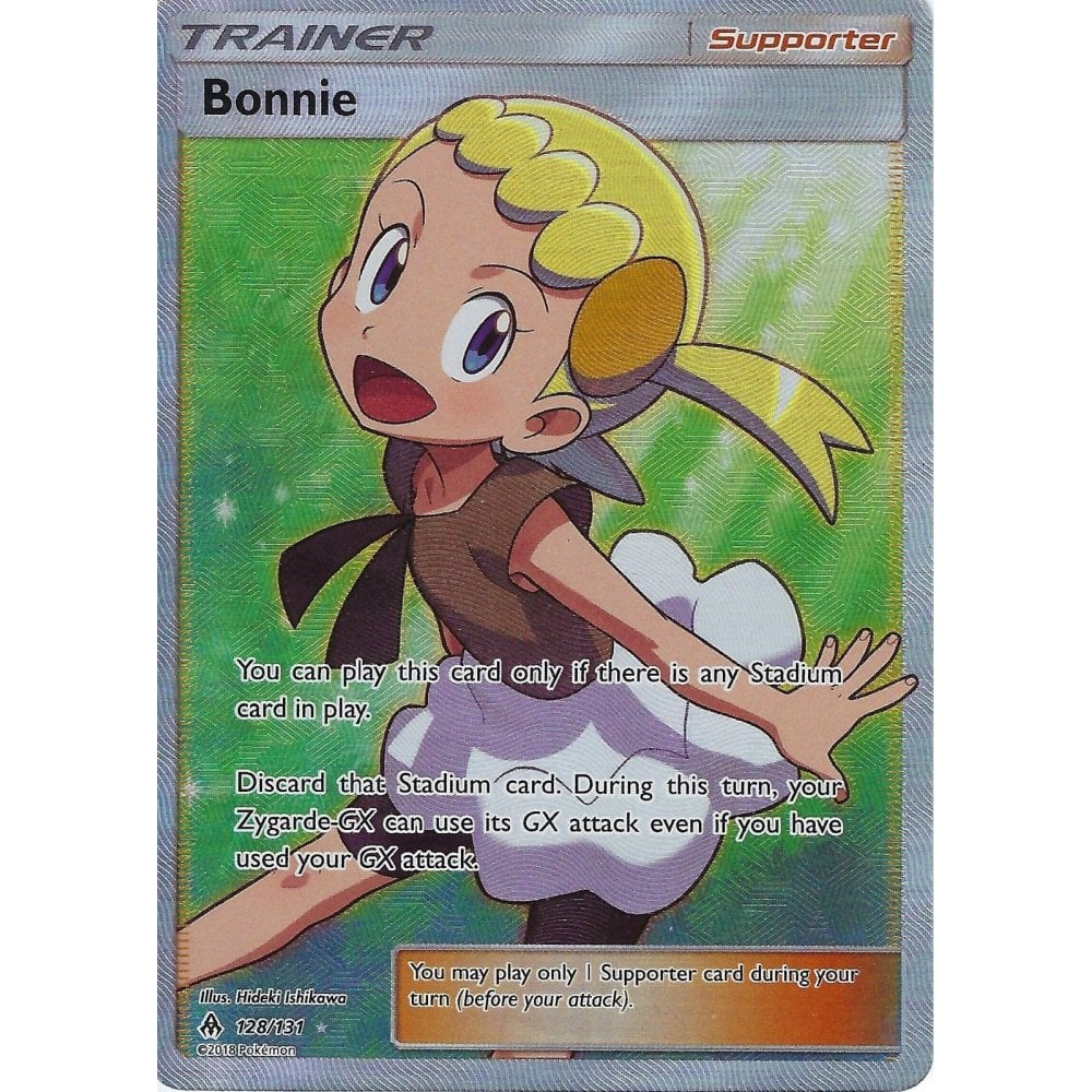 128//131 Full Art Ultra Rare Sun /& Moon—Forbidden Light 1 x Pokemon Bonnie