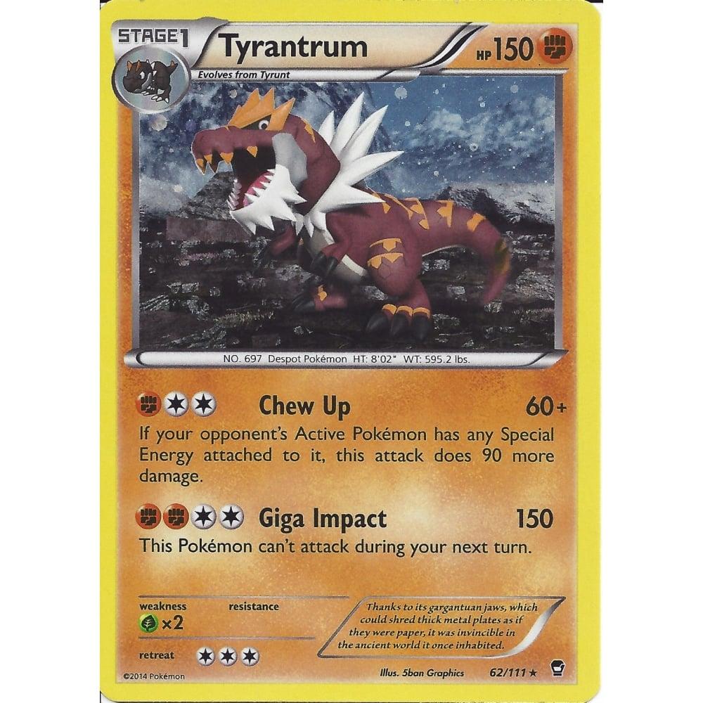 Pokemon Trading Card Game Pokemon Tyrantrum 62 111 Alternate
