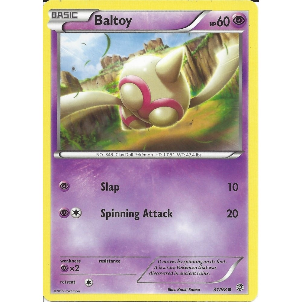 Baltoy 31//98 Ancient Origins Reverse Holo Mint Pokemon Card