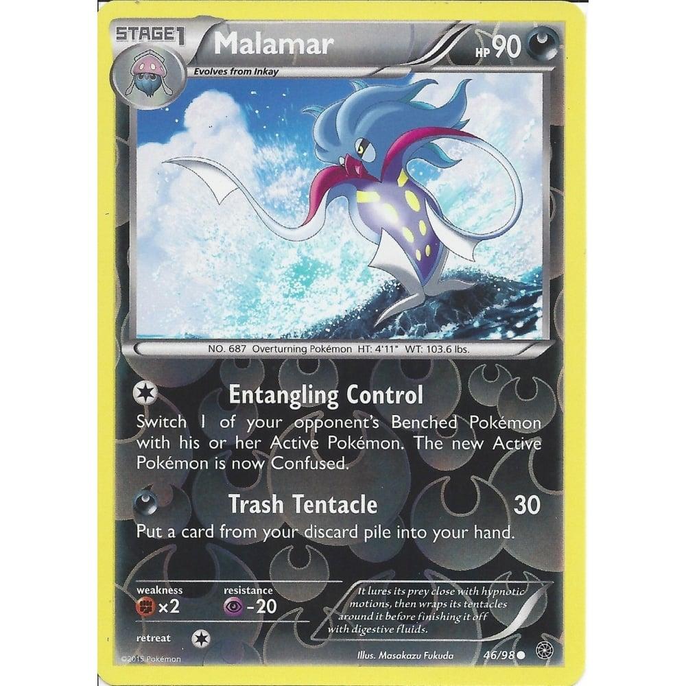 Rare Pokemon XY Base Set M/NM English x4 Malamar 77/146