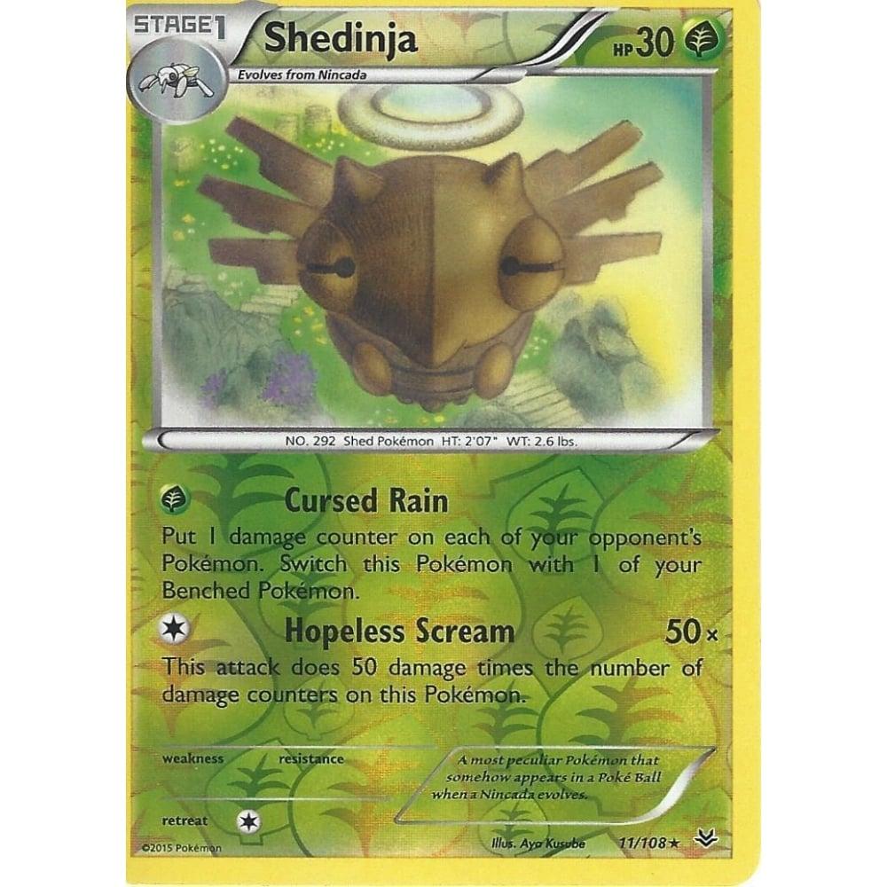 Shedinja Rare Reverse Holo Pokemon Card XY Roaring Skies 11//108
