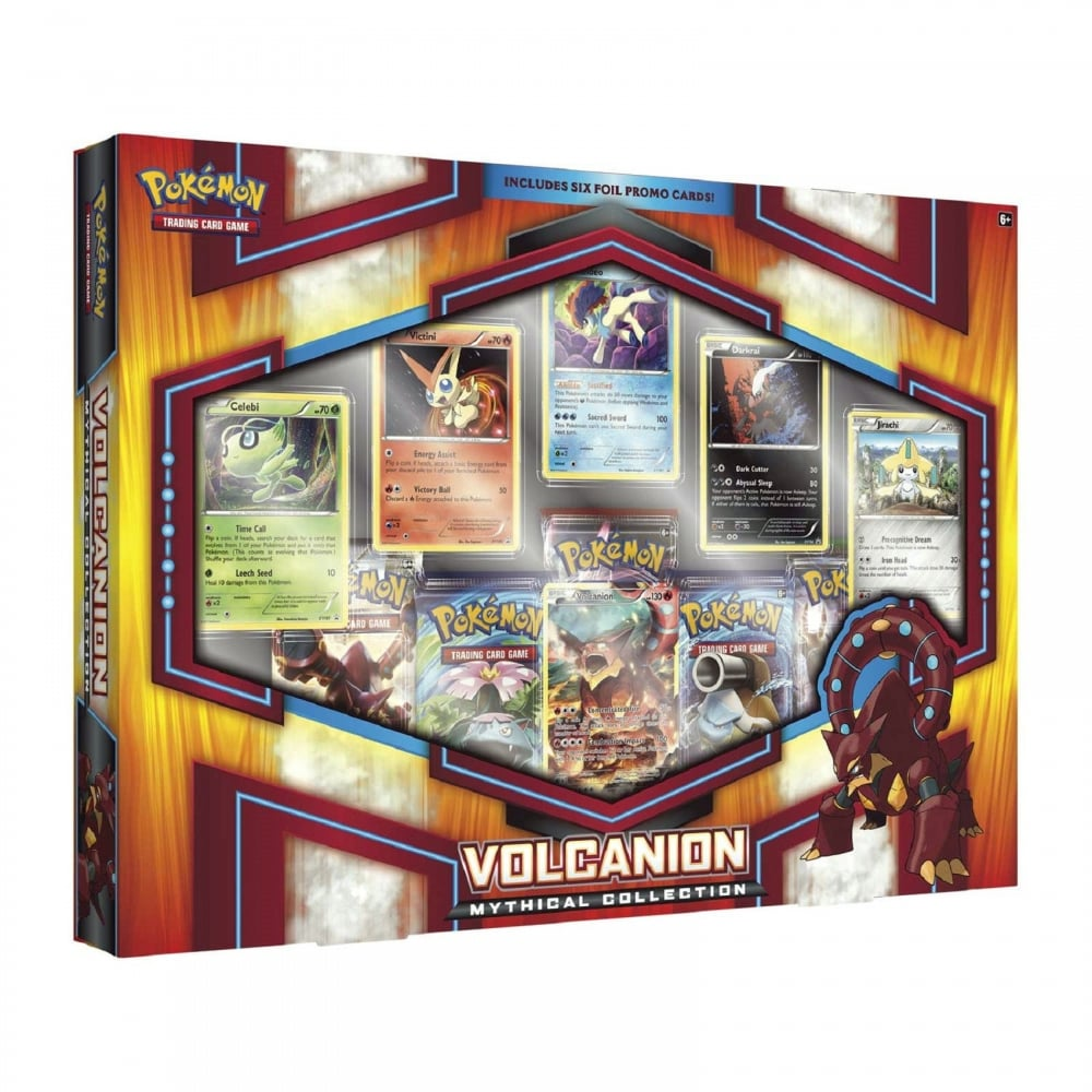 NEW Pokemon Trading Card TCG Volcanion Mythical Collection Box Booster Packs