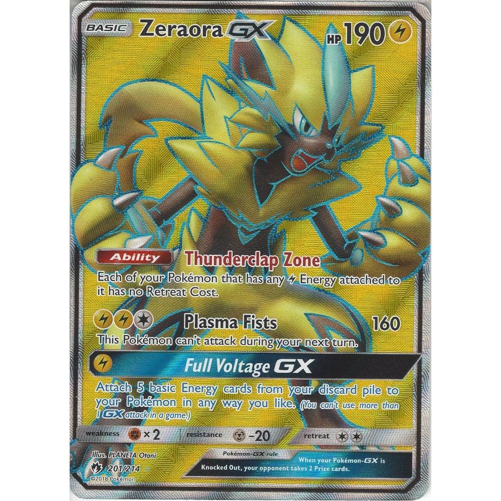 Pokemon Zeraora GX - 201/214 - Rare Ultra Card - SM8 Lost Thunder