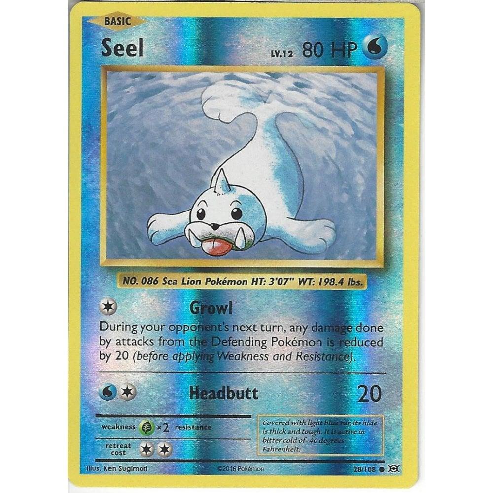 Reverse Holo Card Pokemon XY Evolutions Seel 28//108  Common