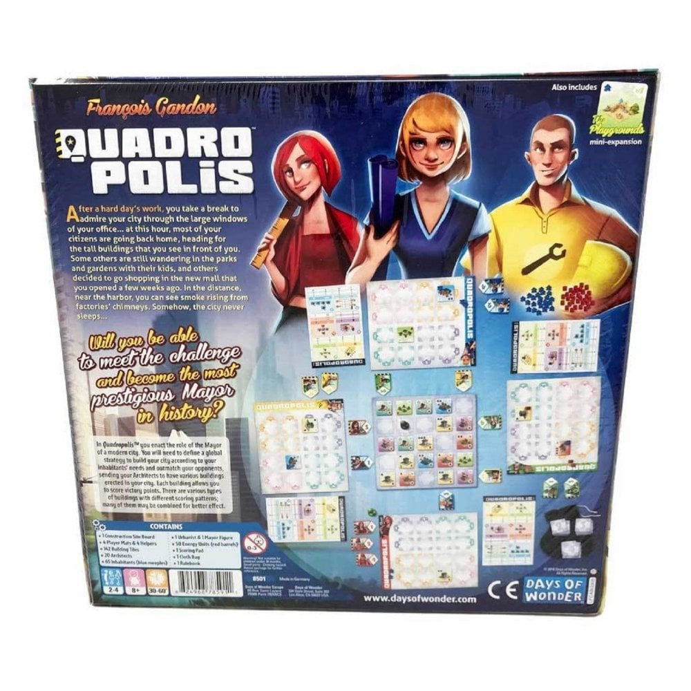Quadropolis Board Game By DOW-8501 - City, Building, Strategy