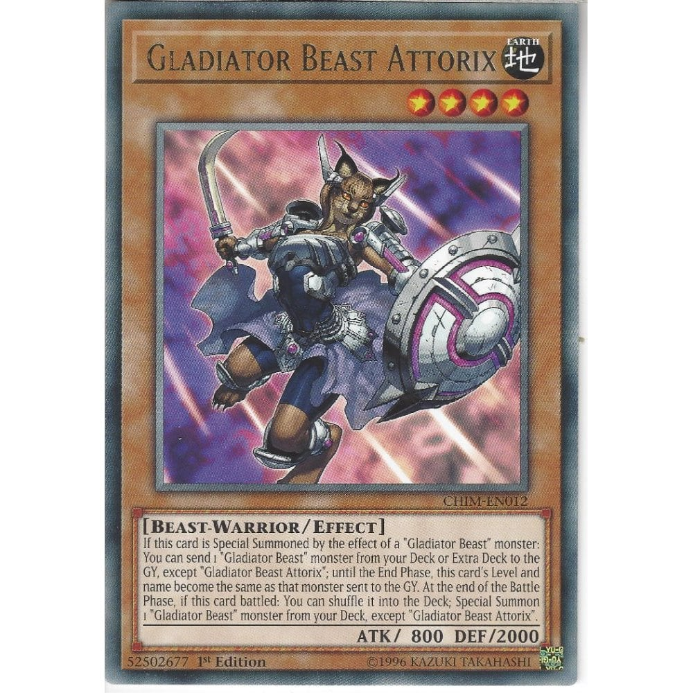 Gladiator Beast Domitianus CHIM-EN033 1st Ed Super Rare Mint Yugioh