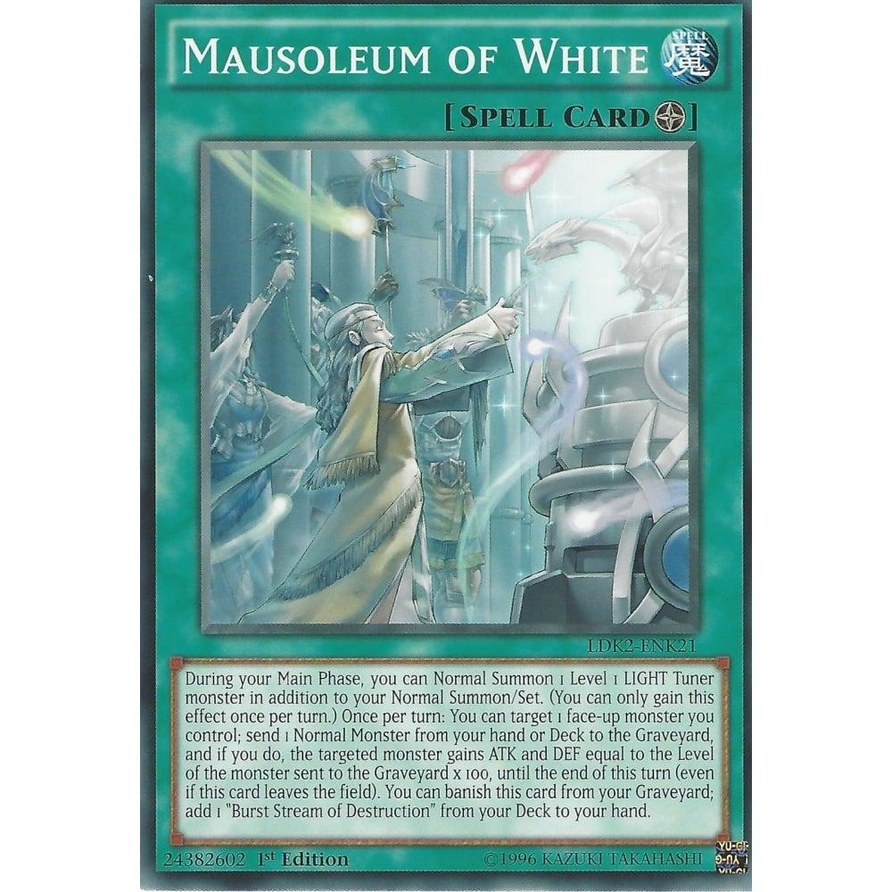 Yugioh Spell Card Mausoleum of White LDK2-ENK21 1st Edition Common