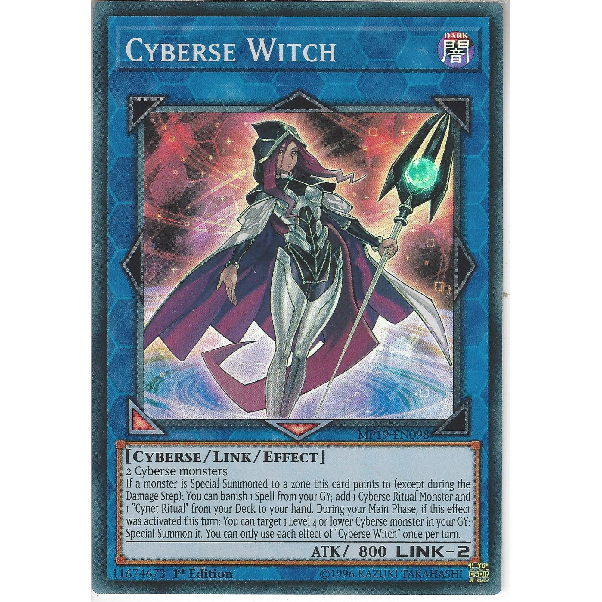 Near Mint Condition YUGIOH Card Dark Witch Mint