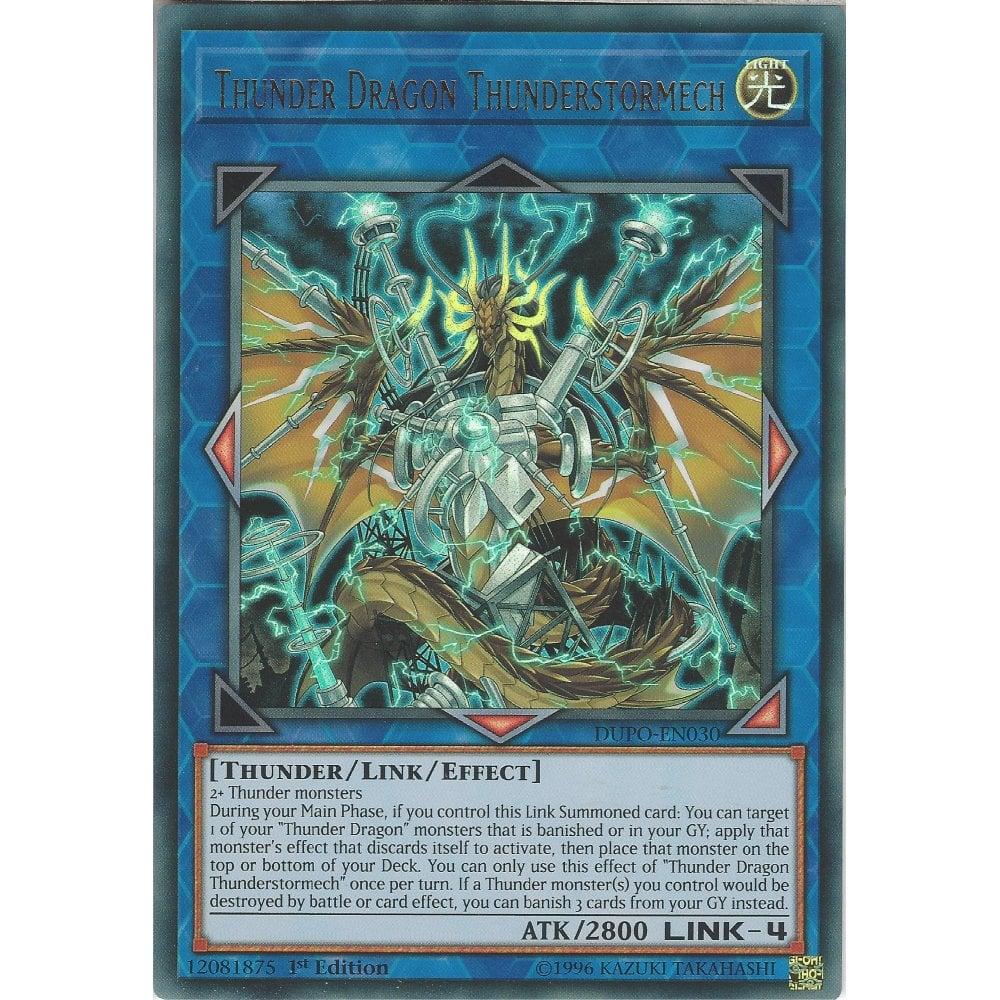 Yugioh Thunder Dragon Thunderstormech DUPO Ultra 1st Ed