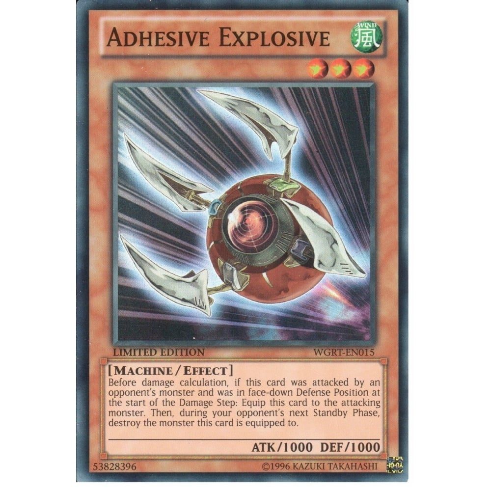 Yu-Gi-Oh ADHESIVE EXPLOSIVE - SUPER RARE - WGRT-EN015 - LIMITED EDITION