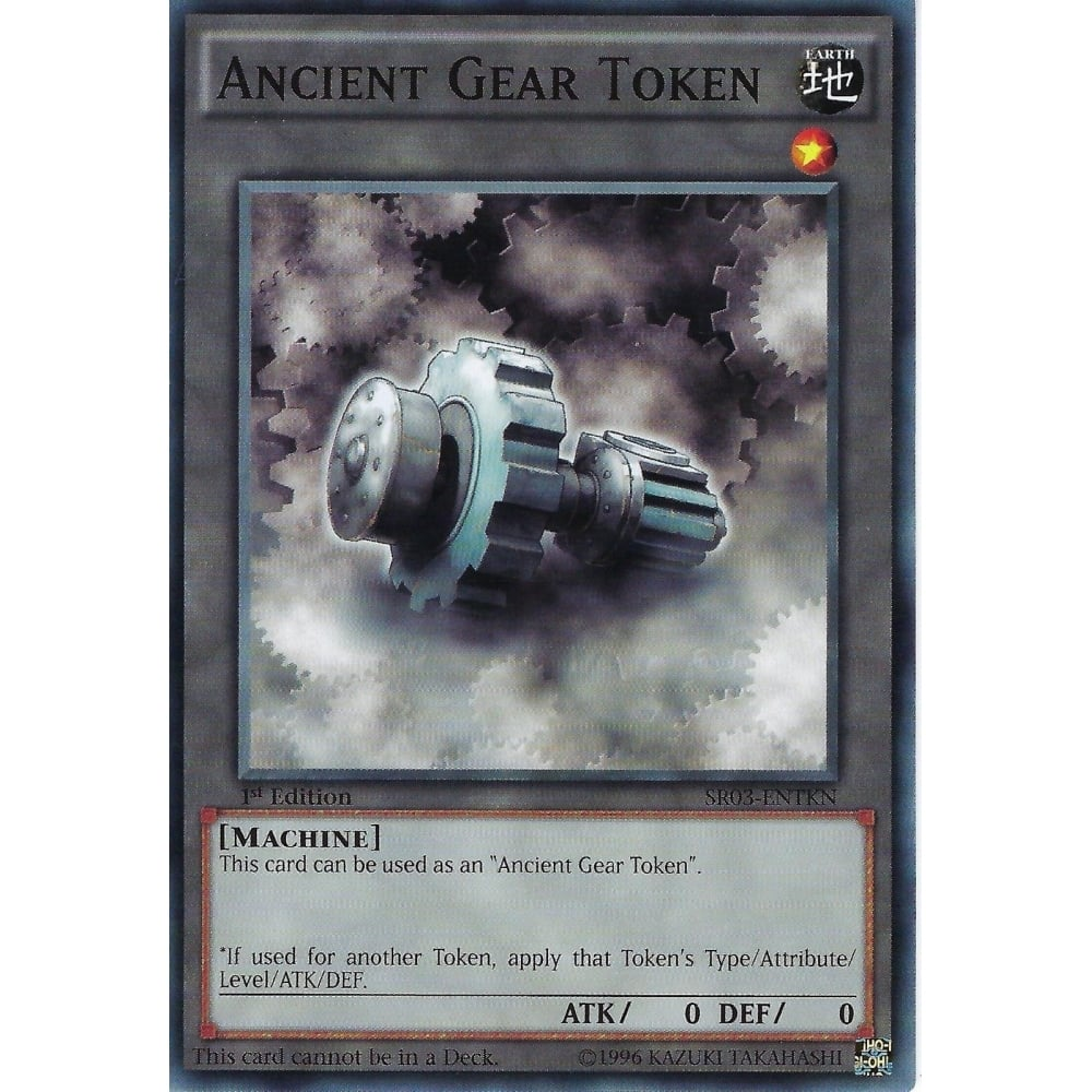 Yu-Gi-Oh ANCIENT GEAR TOKEN - SR03-ENTKN - 1st Edition