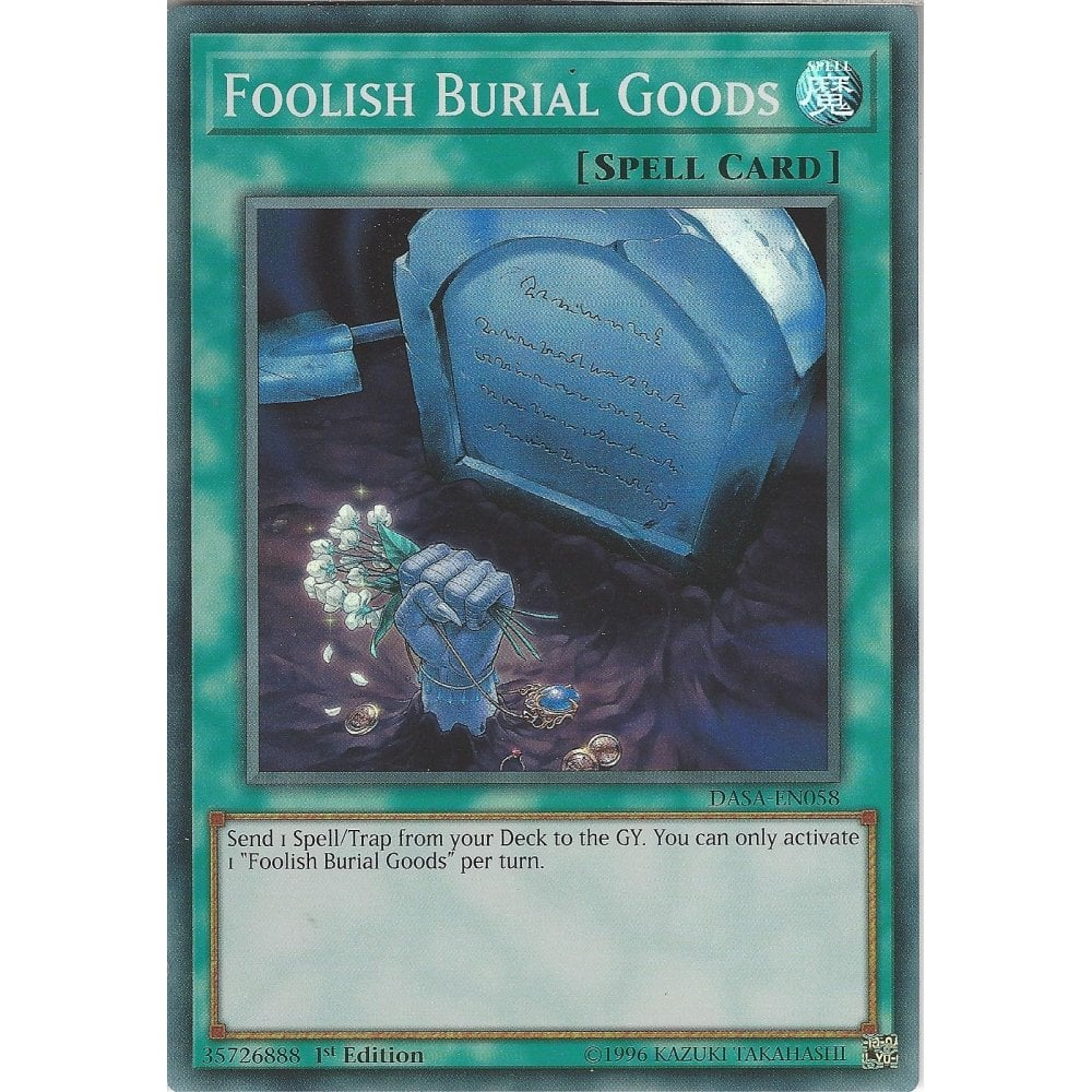 Foolish Burial Goods DASA-EN058 Super Rare Yu-Gi-Oh Card 1st Edition English New