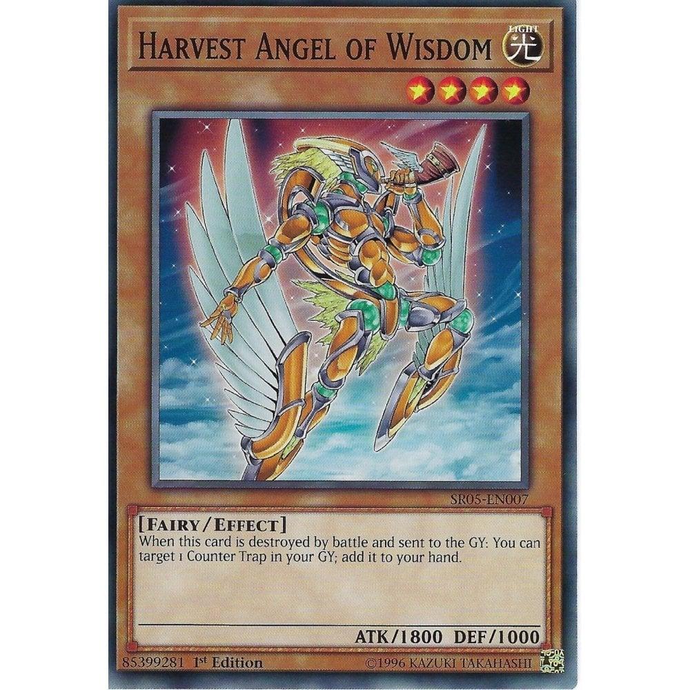 SR05-EN007-1st EDITION HARVEST ANGEL OF WISDOM YU-GI-OH CARD