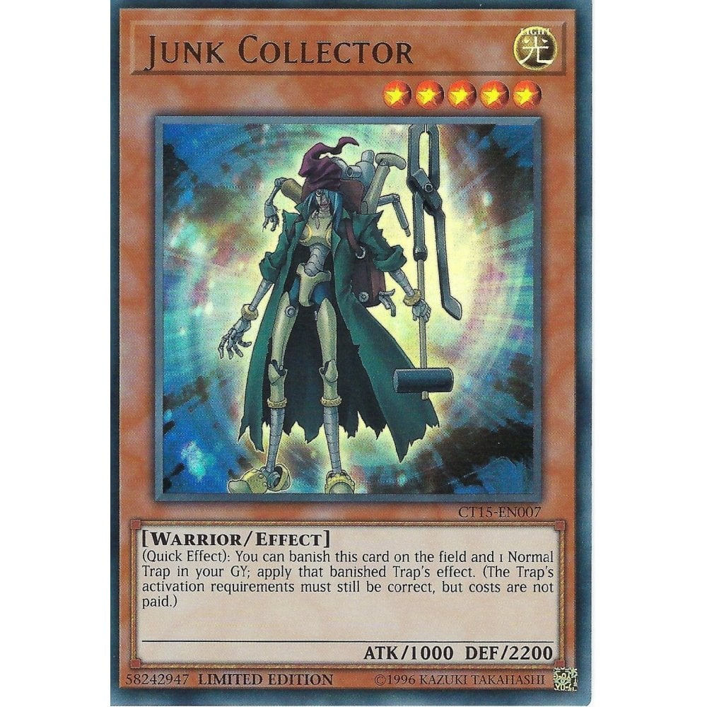 JUNK COLLECTOR Ultra Rare Limited Edition YuGiOh NEW 3 x CT15-EN007