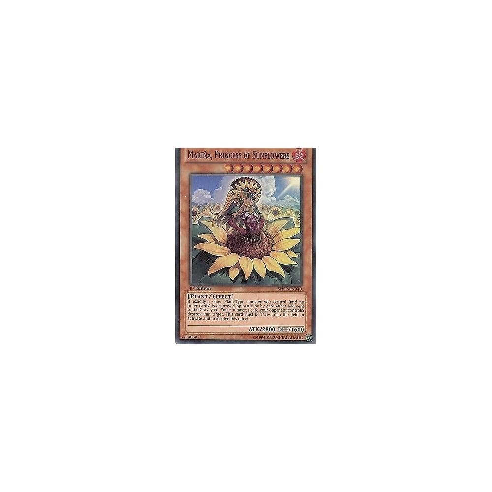 Princess of Sunflowers SHSP-EN040 Super Rare Yu-Gi-Oh Card 1st Edition Mariña