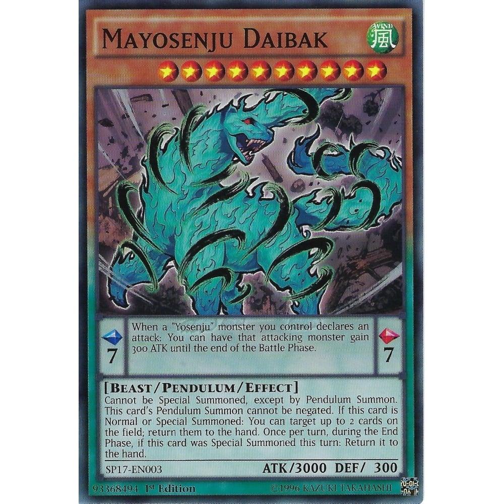 Near Mint 1st Edition SP17-EN003 - Common Mayosenju Daibak