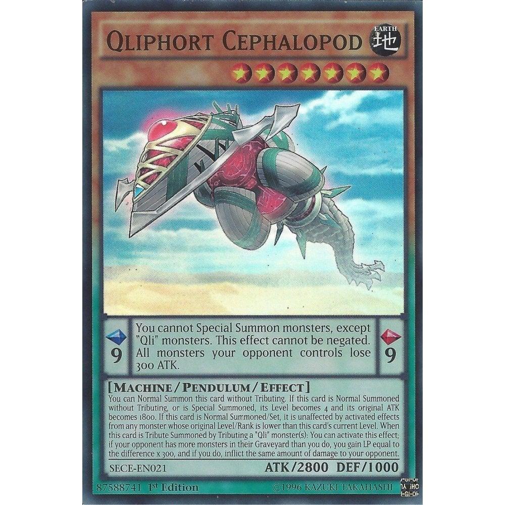 SECE-EN021-1st EDITION YU-GI-OH SUPER RARE QLIPHORT CEPHALOPOD
