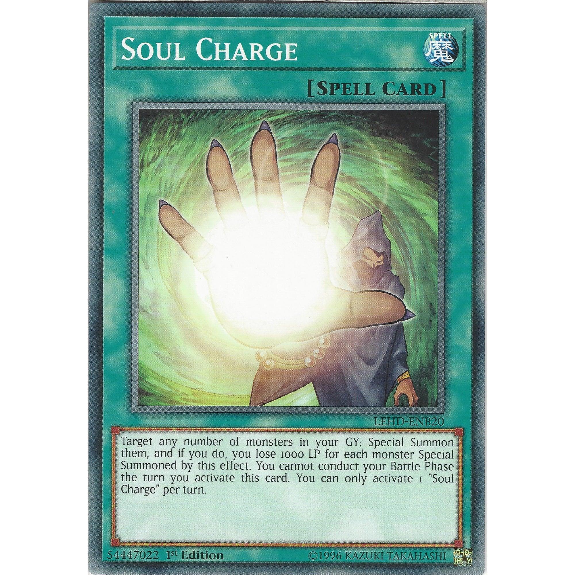 near Mint YuGiOh!! Soul Charge lehd-ENB20 common 1st!