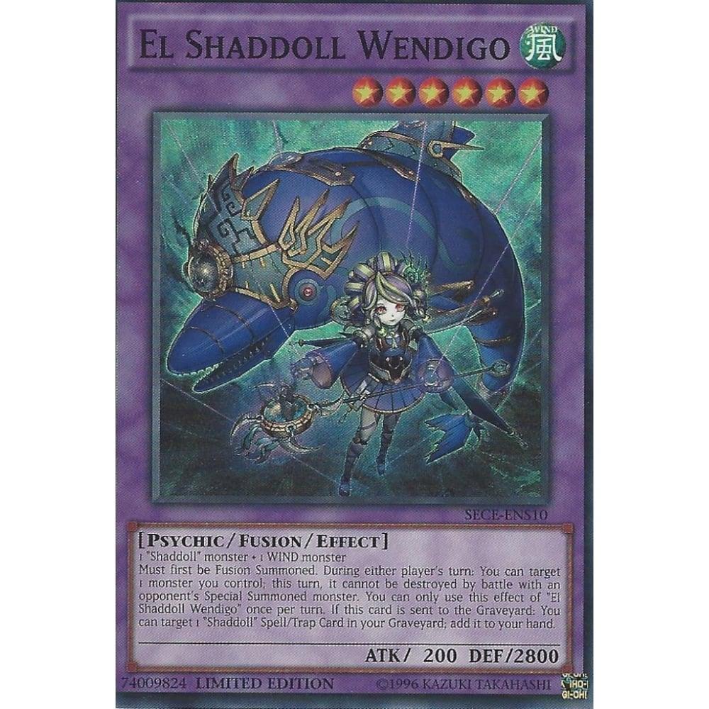 El Shaddoll Wendigo Super Rare Limited Edition Yugioh Card SECE-ENS10