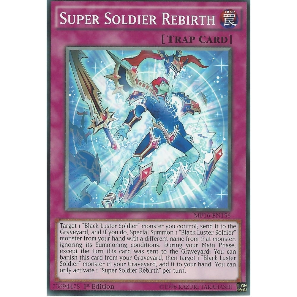 Common 1st Edition Yu-Gi-Oh 1X NM Super Soldier Rebirth 2016 tcg MP16-EN156
