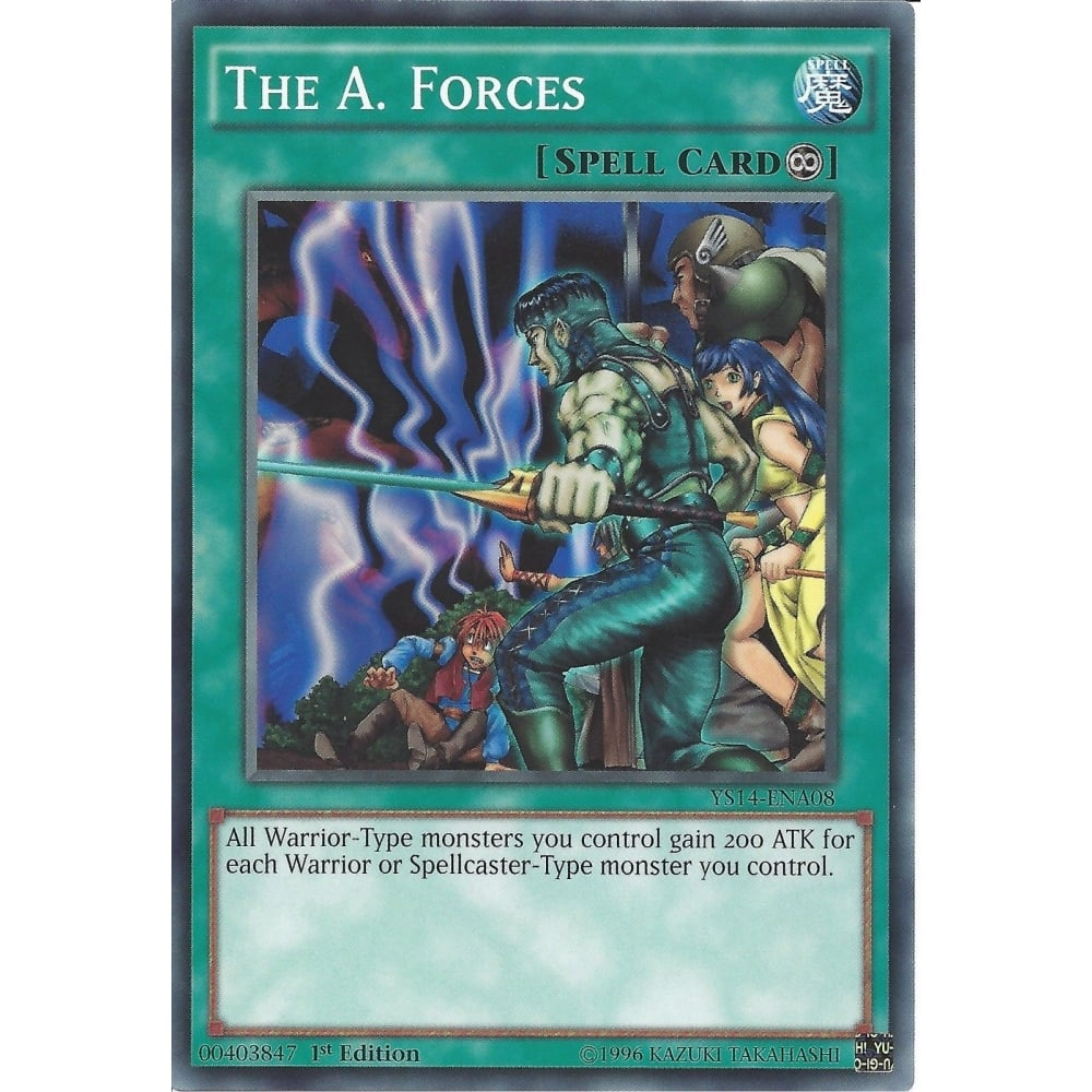 YS14-ENA08 The A Forces 1st Edition Mint YuGiOh Card