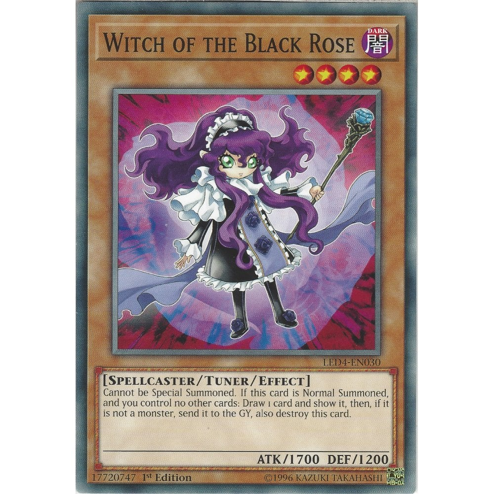 Witch of the Black Rose LED4-EN030 Common Yu-Gi-Oh Card 1st Edition New