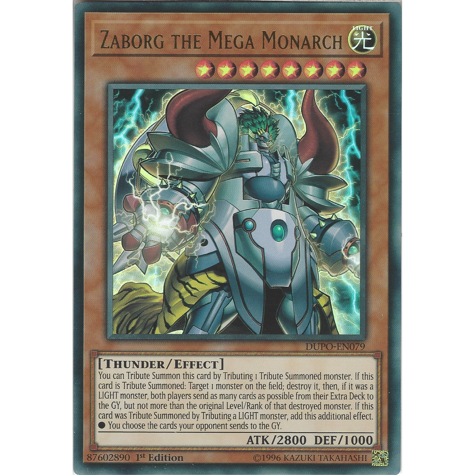 Zaborg the Mega Monarch DUPO-EN079 Ultra Rare YUGIOH